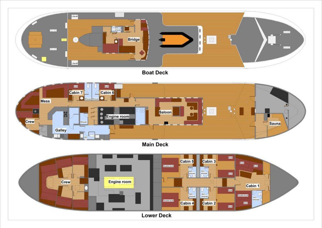CAPE RACE Deckplan