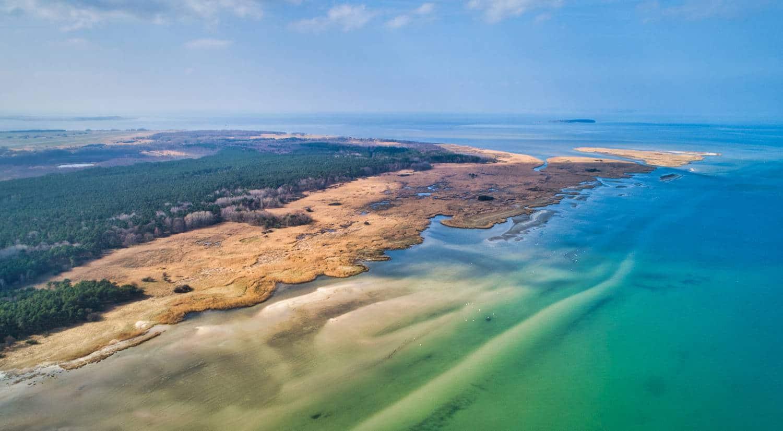 Ostsee-Küstenlandsachaft Luftaufnahme