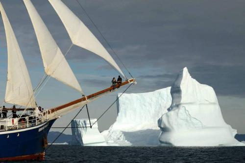 In Grönland unter Segeln